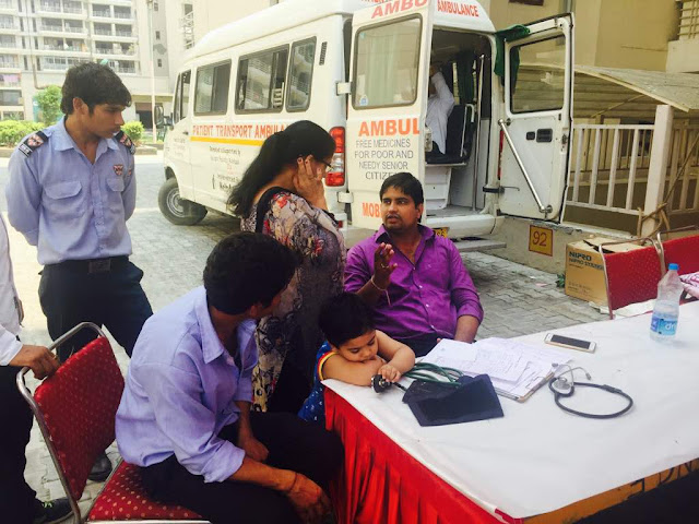 TDI Infratech holds Free Health Camp