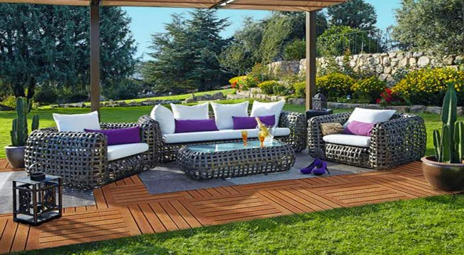 M veis de jardim e exterior leroy merlin decora o e ideias for Mobiliario de jardin moderno