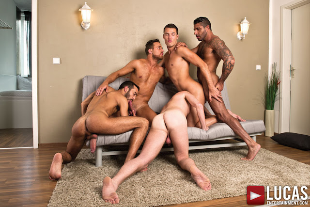 Theo Ford and Logan Moore Take Over the Bareback Sex Party