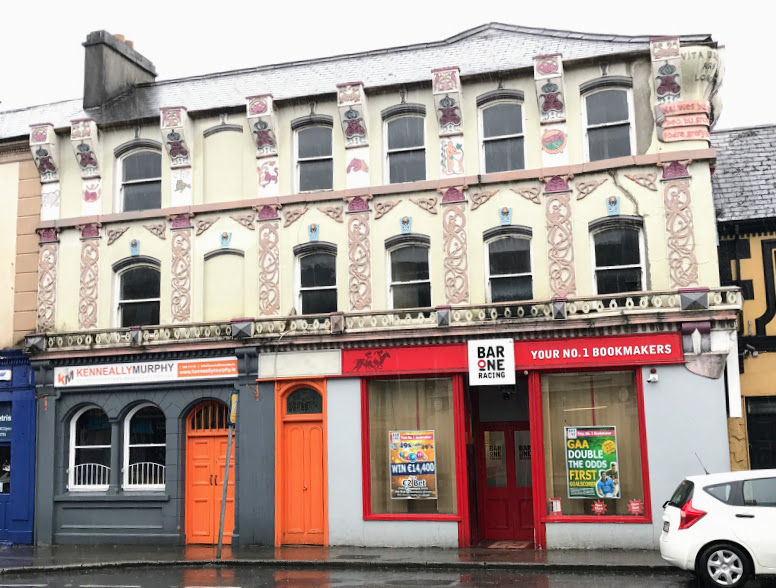 The Former OConnors On Main Street Is Pat McAuliffes Most Extravagant Work In Abbeyfeale Co Limerick Photograph Patrick Comerford 2017