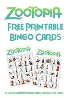 http://musingsofanaveragemom.blogspot.ca/2016/03/zootopia-bingo-cards.html