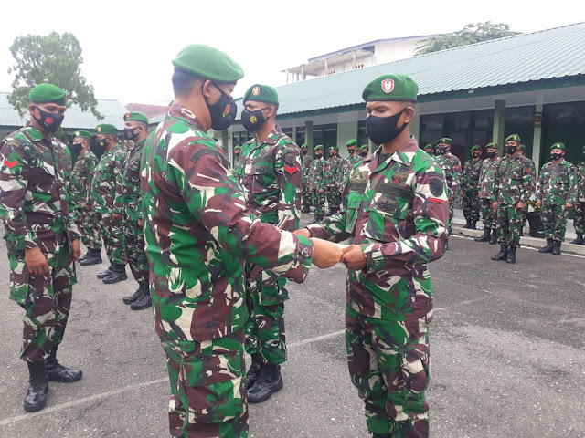 44 Personil Kodim Aceh Barat Mendapat Penghargaan Kenaikan Pangkat Dan 18 Prajurit Pindah Satuan