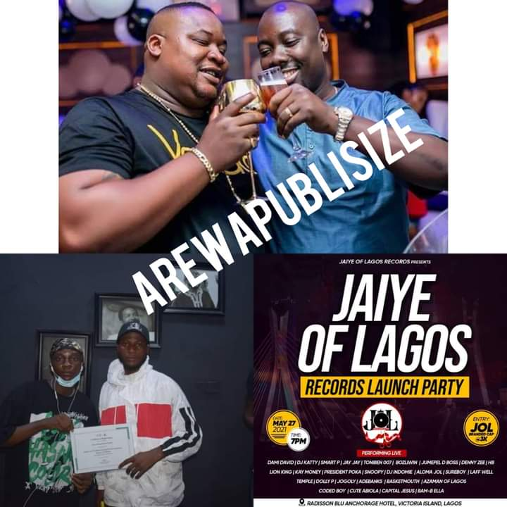 [E-News] Obi Cubana Gives 5 million to 'Jaiye of Lagos records', they are set to host a reality show #Arewapublisize