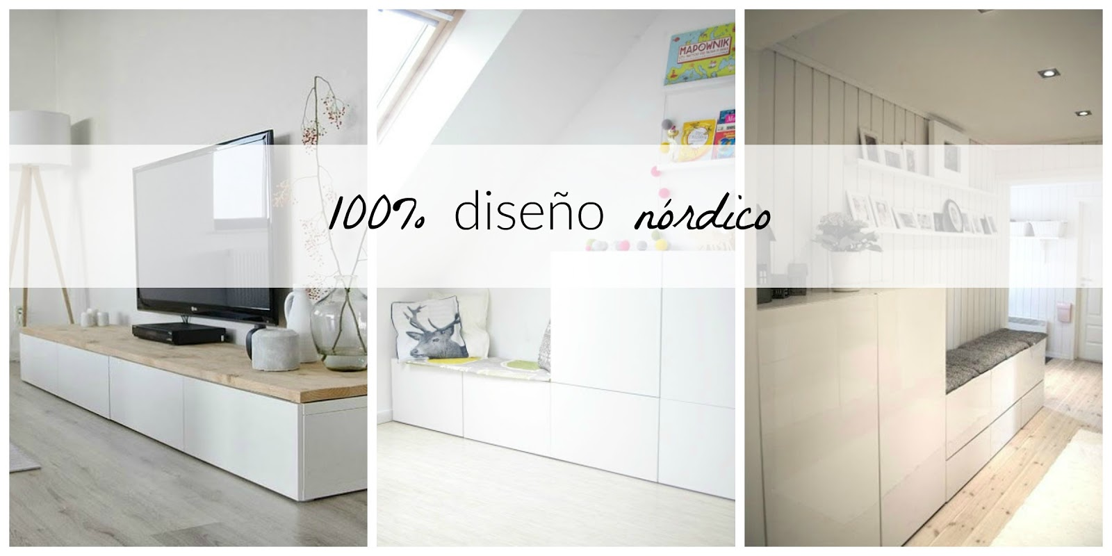 Serie besta de ikea 100 estilo n rdico a buen precio for Muebles blancos ikea