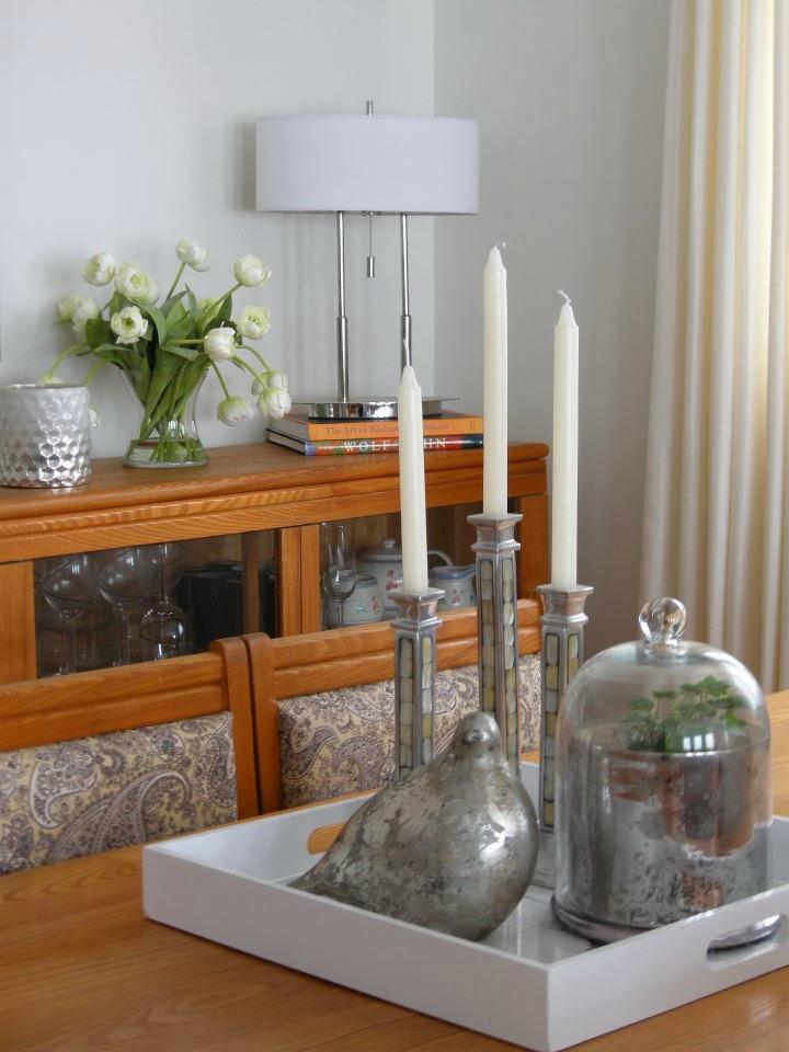 mercury bird vignette dining room