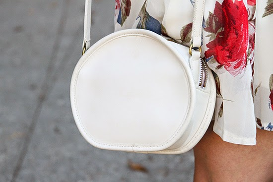 Vintage White Leather Coach Cross Body Bag