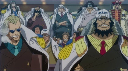 รอนเซ่กับทหารเรือคนอื่นใน One Piece Film Z
