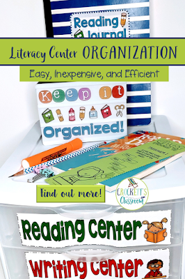 Organization is key to running efficient literacy centers. Find out how to get your literacy centers organized quickly and easily.