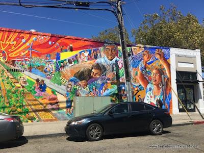 exterior mural at Mi Tierra Foods in Berkeley, California