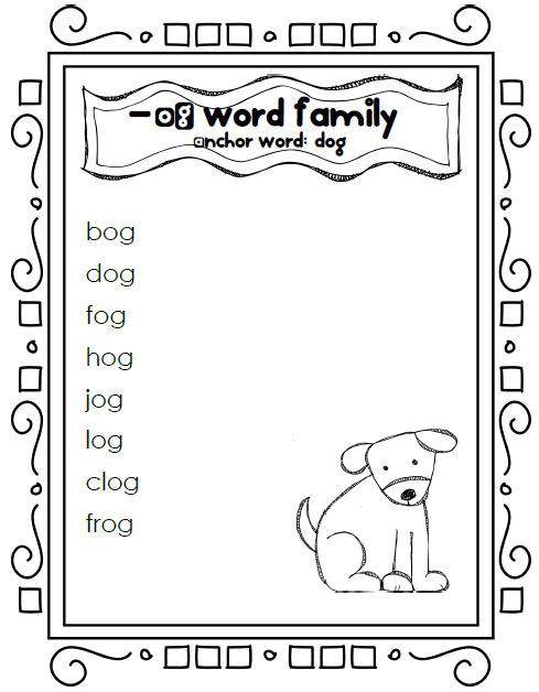 New 476 Word Family Worksheets Og Family Worksheet