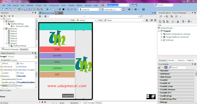 Membuat Tampilan Menu Slide Menarik di Delphi Android