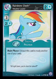 My Little Pony Rainbow Dash, Weather Leader Premiere CCG Card