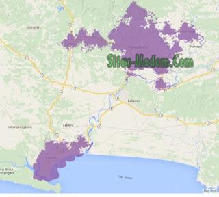Jangkauan Jaringan 4G Indosat Ooredoo  Jawa Tengah