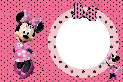 Tarjetas Para Imprimir Gratis De Minnie Mouse En Rosa