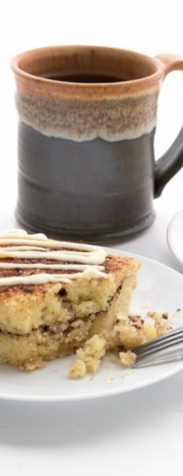 Cinnamon Roll Coffee Cake – #LowCarb #Gluten-Free