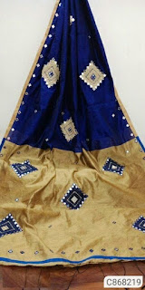 Handloom Cotton Silk Sarees With Mirror Work