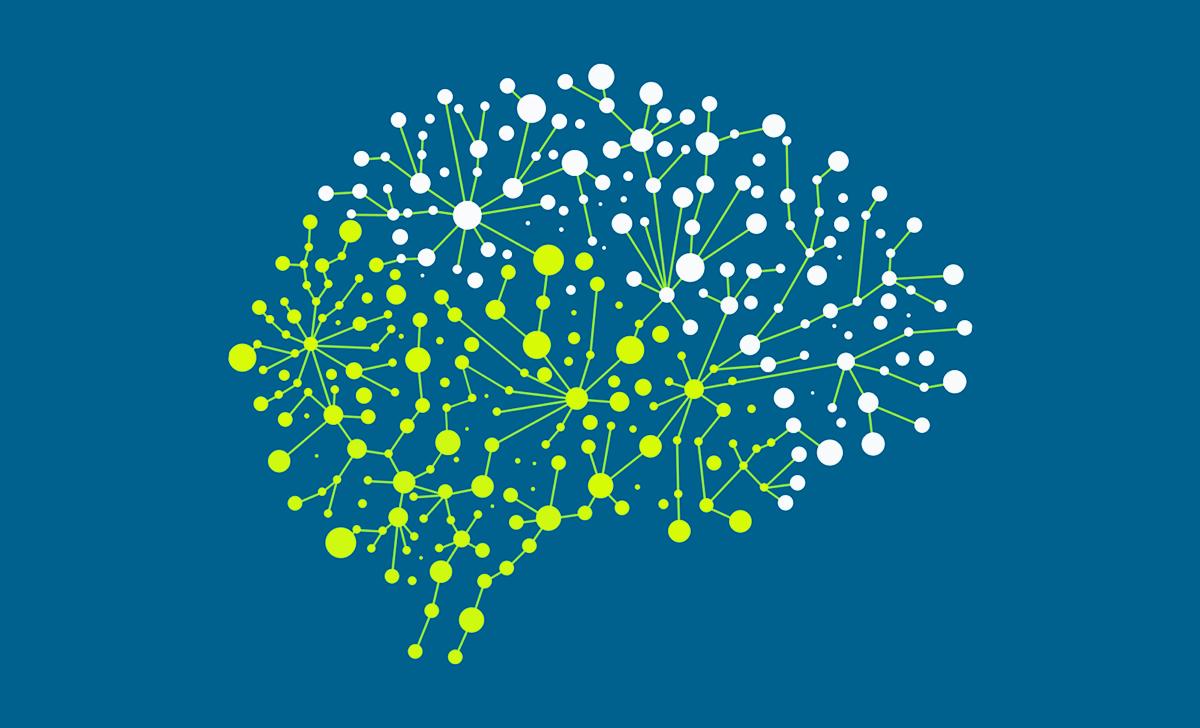 Gambar dan desain otak manusia Flat Desain