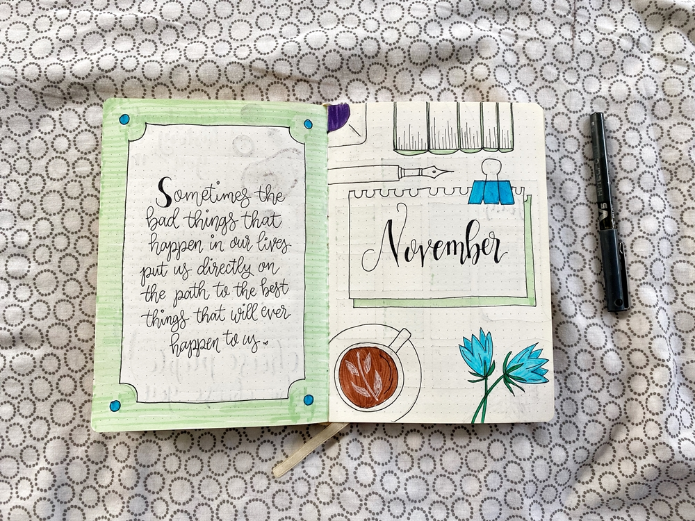 My November 2020 Journal Spread - Renee Alexis
