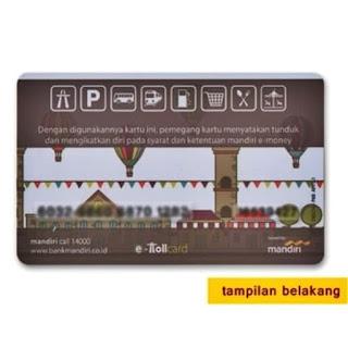 kartu e-money / e-toll MANDIRI mod . kartu e-toll american express