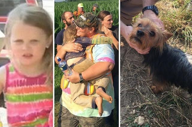Собачка спасла жизнь девочки, которая заблудилась в лесу, согревая ее своим теплом!