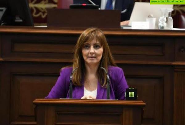 Nieves Lady Barreto traslada al Parlamento los graves problemas que está generando a los canarios, especialmente a los jóvenes, la falta de pago en prestaciones como el Ingreso Mínimo Vital