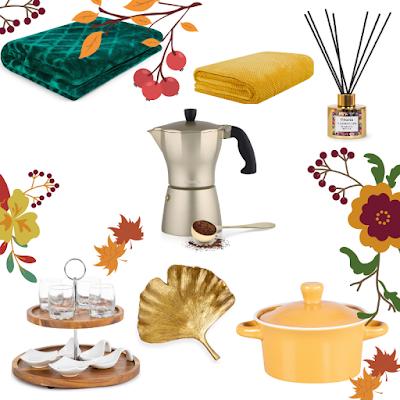 Homla, damazprowincji blog, jesień w domu, przegląd sieciówek, jesienne zakupy,dekoracyjne dodatki, zestaw, whislista jesień