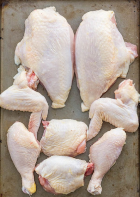 potongan daging ayam
