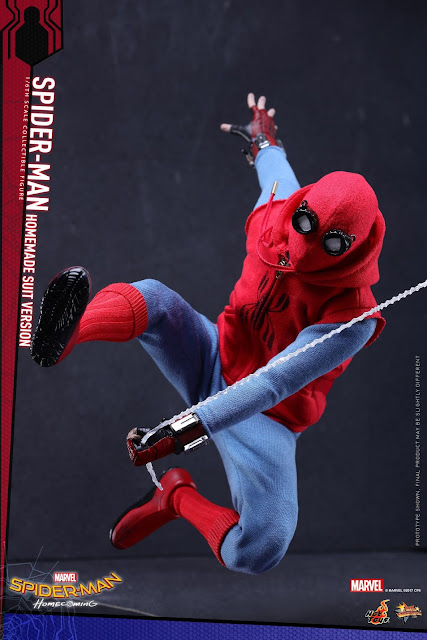 osw.zone Hot Toys MMS414 1 / 6. Scale Spider-Man (homemade suit variant) Collector figure