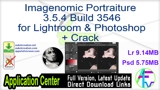 Imagenomic Portraiture 3.5.4 Build 3546 for Lightroom & Photoshop + Crack