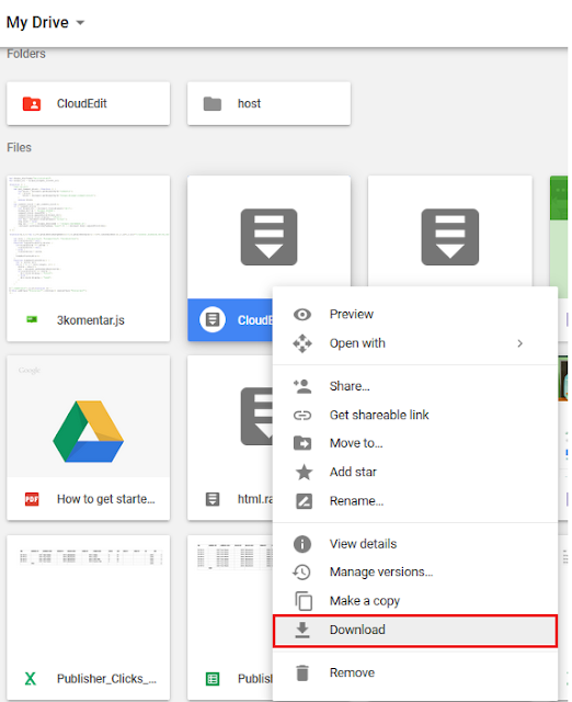 the problem can not download in Google Drive resolved
