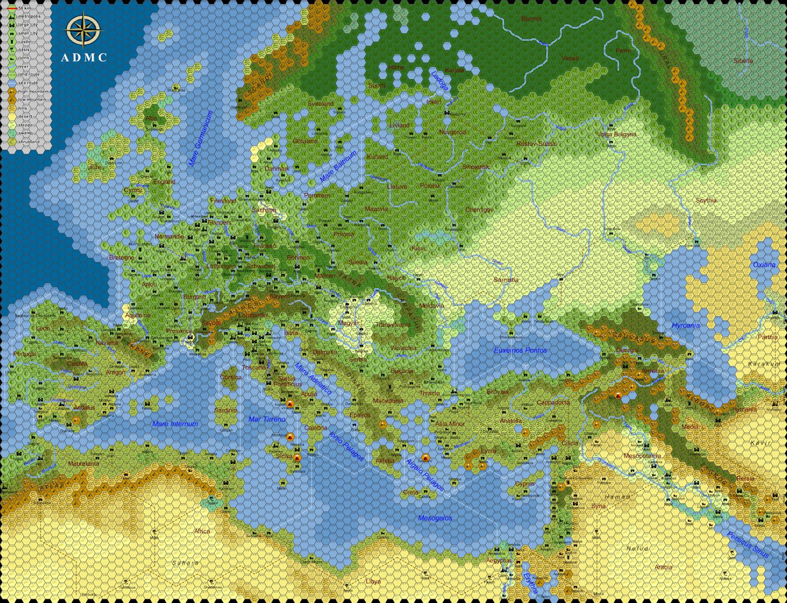 Beyond the Black Gate: Europa: the Hex Crawl