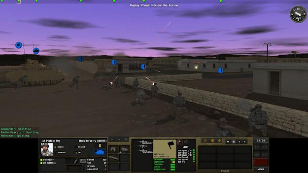 Imagem da gameplay do jogo Combat Mission Shock Force 2 (PC)
