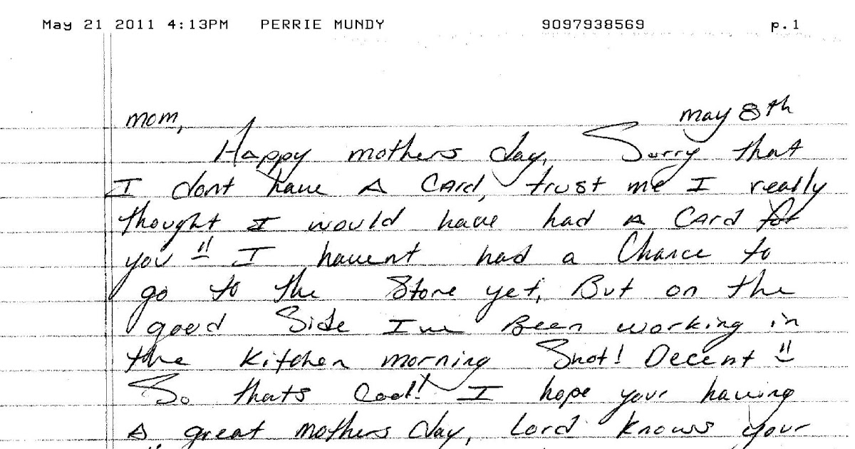 LETTERS TO MY SON: A letter from prison