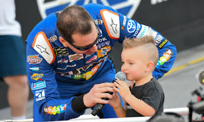 Kyle Busch with son Brexton #NASCAR