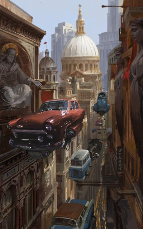 Fu Chenqi artstation arte ilustrações ficção científica fantasia cyberpunk