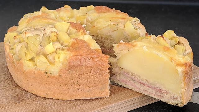 recette, gâteau, gâteausalé, recettefacile, recetterapide, fromage, pommes de terre, un jour une recette
