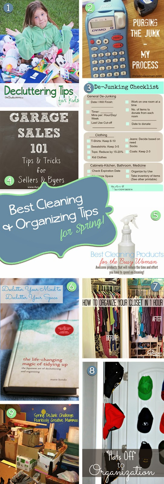 10 of the Best Cleaning & Organizing Tips for Spring #SpringDeJunkChallenge