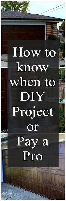 How to know when to do a homeowners project yourself or hire a professional.