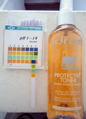 pH de locion tonica calmante de Idraet