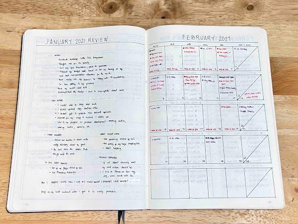 February 2021 Bullet Journal Set Up