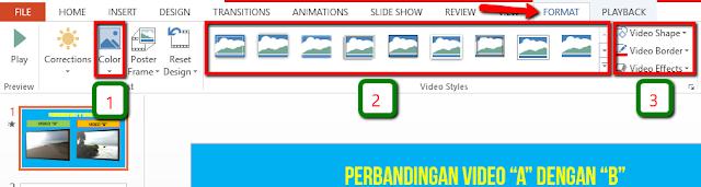 Cara memasukkan dua atau lebih video ke dalam PowerPoint 2013 dan 2016