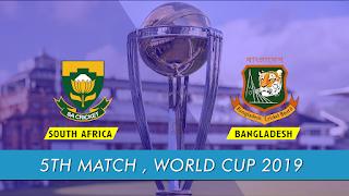 Cricket Highlightsz - South Africa vs Bangladesh 5th Match ICC World Cup 2019 Highlights