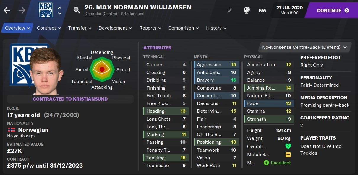 Max Williamsen Football Manager 2021