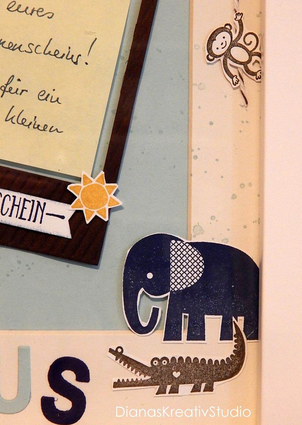 DianasKreativStudio --- Schönes aus Papier: Bilderrahmen zur Geburt ...