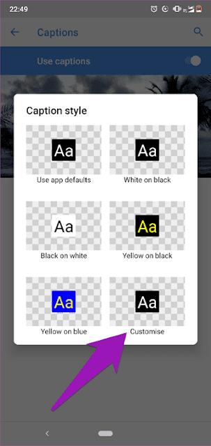 Cara Menyalakan dan Menyesuaikan Teks (subtitle) Video di Android