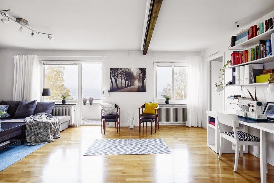 Interior casa con decoracin nrdica