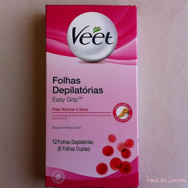 Resenha: Folhas Depilatórias Easy Grip - Veet