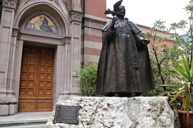 Pope John XXIII at St Anthony of Padua Church along Istiklal Street in Istanbul, Turkey