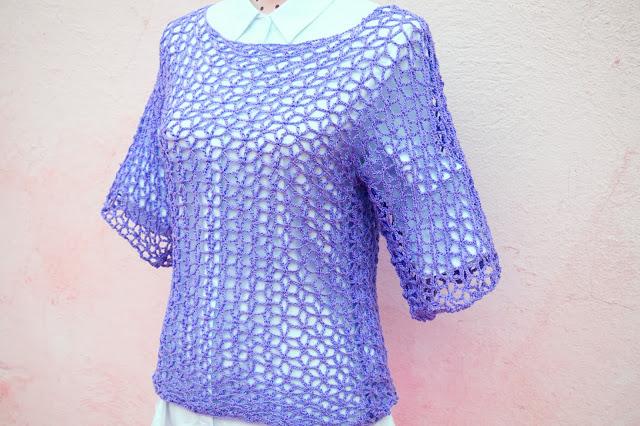 5 - Crochet Imagen Blusa playera a crochet y ganchillo por Majovel crochet