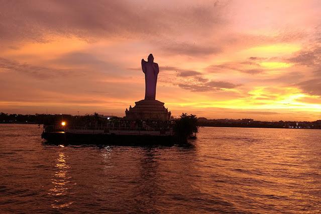 Hussain Sagar Lake Buddha in Hyderabad